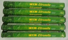 GR Incense Citronella Stick, 100 Sticks (Bug Mosquito Repellent)