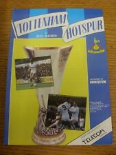 06/03/1985 Tottenham Hotspur v Real Madrid [UEFA Cup] . Unless previously listed