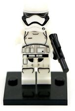 Storm trooper minifigure FIRST ORDER Star Wars + lego pieces UK PLEASE READ