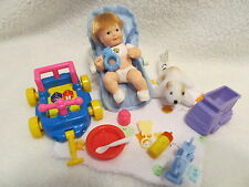 Barbie Baby Boy doll Blonde Hair Shoes toys Accessories Bottle Blanket Car Seat
