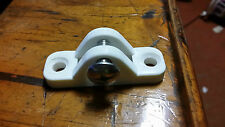 Deck Mount small, white Nylon. Boating Camping Fishing