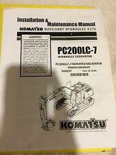 Komatsu Hydraulic Breaker Kit H30237 installation & Maintenance Manual PC200LC-7