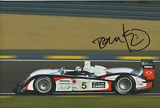 Tom Kristensen Hand Signed Audi 12x8 Photo Le Mans 1.