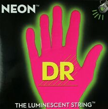 DR NEON NPB6-30 Neon Pink Luminescent/Fluorescent Bass Guitar 6 Strings 30-125