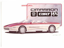1985 CADILLAC CIMARRON CART PPG TRACKSIDE VEHICLE BROCHURE BY GENERAL MOTORS/GM!
