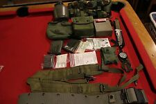 SURVIVAL MILITARY GEAR KIT COMPASS KNIFE BELT POUCH FIRST AID BUTT PACK EDC CAMP