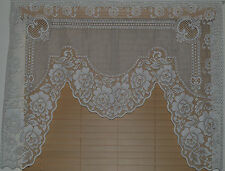 Heritage Lace Polyester White American Beauty Swag 1 Panel 48&35 with 60 (700)