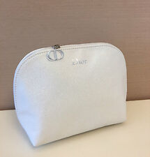 Genuine DIOR Bling Bling White Cosmetic Bag Pouch Clutch with Dior Beauty Charms