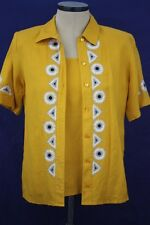 Bob Mackie Size Small Women's Yellow Multi Color 2 Pc Tank and Button Top Set