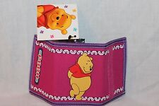 NEW WITH TAG WINNIE THE POOH KIDS TRIFOLD  COIN WALLET  PINK