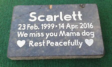 CUSTOM ENGRAVED GRANITE PET MEMORIAL HEADSTONE DOG CAT GRAVE MARKER PLAQUE STONE