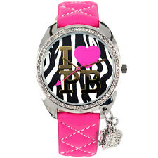 Pauls Boutique Charmed Animal Print Dial Crystal Set Womens PA006PK Paris Watch