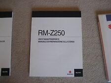 SUZUKI RM-Z 250 USO E MANUTENZIONE E, MANUALI DI PREPARAZIONE ALLA CORSA, 2010