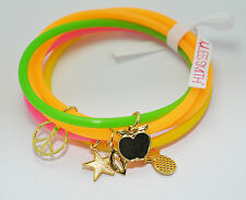 JULES SMITH 14k Gold Neon Charm School Vintage Jellies Bracelet set of 5 $35 NEW