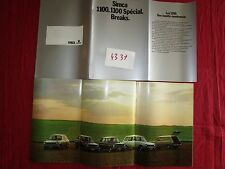 N°4337 / SIMCA : catalogue 1100.1100 Spécial.Break