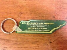 Vintage Advertising City of Johnson City Tennessee Key Chain