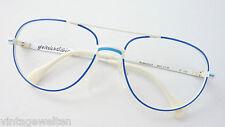 Blau-Weiße Pilotenbrille Rodenstock Berti Rarität oldschool Fassung Flexbügel M