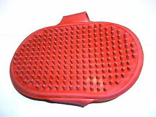 Cat Dog Pet Cleaning Massage Grooming Glove Bath Brush Comb ( RED )