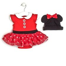 Disney Store Minnie Mouse Baby Costume Bodysuit & Hat 6 - 9 Months BNWT