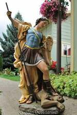 "FANTASTIC! 26"" ST. MICHAEL ARCHANGEL STATUE Stand on Devil INDOOR OUTDOOR RESIN"
