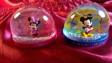 Disney Mickey Mouse & Minnie Mouse Snow Globes Set Of 2 Easter 2017 Home Decor