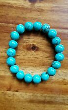 A+ 8mm Genuine Turquoise Stretch  Bracelet