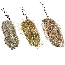 Glitter Powder Sequins Champagne Gold Silver Nail Art DIY Decoration 10ml/box