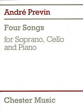 Andre Previn Four Songs Learn to Play Soprano Cello Piano Music Book