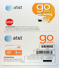 AT&T SIM CARD, PREPAID GO PHONE 3G SIM CARD,  READY ACTIVATE. PAY AS YOU GO SIM