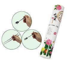 Portable Stainless Steel Chopsticks Spoon Fork Tableware Set Chrysanthemum KG