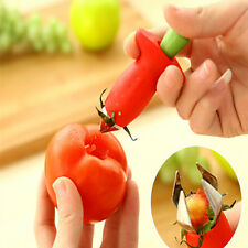 New Strawberry Stem Leaves Huller Remover Removal Fruit Corer Kitchen Gadgets