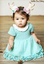 Precious Matilda Jane Mint Green Crochet Nan Dress Set  Size 3-6 Months