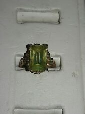 ANTIQUE  10KT GOLD EMERALD CUT  RING-SIZE 5.5