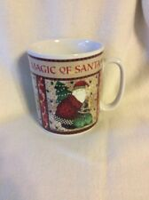 DEBBIE MUMM MAGIC OF SANTA OVERSIZED EXTRA LARGE COFFEE COCOA TEA CUP MUG