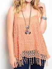 Gorgeous Peach Plus Size Top 3 XL lace on tank top