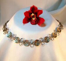 Hübsches Collier 900 Silber Handarbeit Collierkette Halskette Kette / bh 534