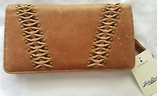 Women's Lucky Brand Leather Pomona Wallet Large Credit card Cognac NEW $88