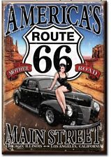 "Route 66 - America's Main Street - 3"" x 2"" Refrigerator Ice Box Magnet M1957"