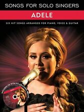 Songs For Solo Singers ADELE Learn to Play Piano Vocal & Guitar Music Book & CD