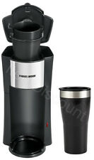 Black & Decker Single Serve One Cup Personal Coffee Maker Pod + 16 oz Travel Mug