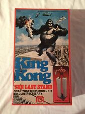 1976-MEGO KING KONG BOX ONLY W/ INSTRUCTIONS-100% ORIGINAL AND NM-THE LAST STAND