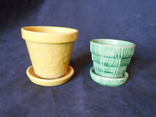 Vintage Pair of Small Tray Ivy Planters Shawnee/McCoy Both Marked