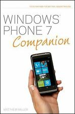 Windows Phone 7 Companion by Bradley L. Jones and Matthew Miller (2010,...