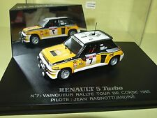 RENAULT 5 TURBO RALLYE TOUR DE FRANCE 1984 J. RAGNOTTI UNIVERSAL HOBBIES 1:43