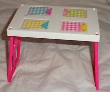 Barbie Doll Sisters Go Camping Camper Table White Pink