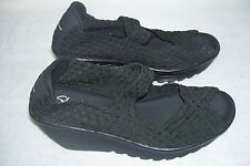 New!  Womens Skechers  Cali Parallel Wedges 38409 Size  8 Black   39M