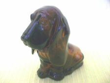 VNTG AVON BABY BASSETT HOUND BOTTLE PUPPY DOG FIGURINE GLASS NICKNAC COLLECTIBLE