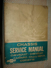 1969 CHEVY SHOP MANUAL SERVICE BOOK CAMARO CORVETTE CHEVELLE NOVA SS