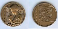 Médaille de table bronze - 54° congrès expostions philatéliques Vichy 1978 d=50