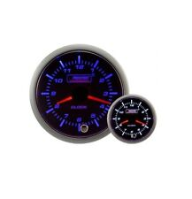 Prosport 52mm Super Smoked Blue / White Analogue Clock 12hr Gauge